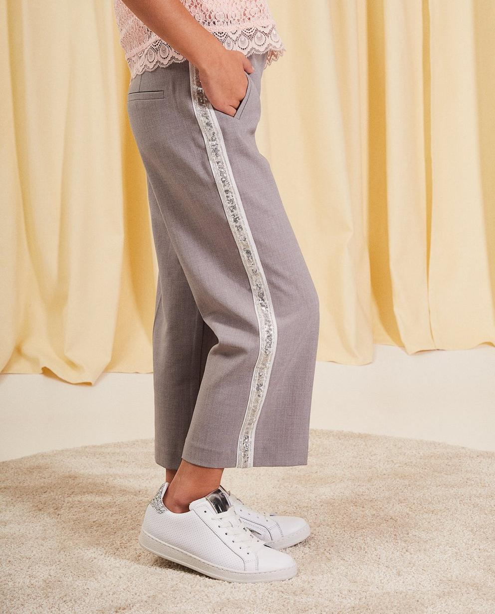 Pantalons - light grey - Pantalon en viscose